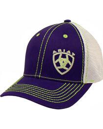 Ariat Women's Purple Contrast Shield Baseball Cap , , hi-res