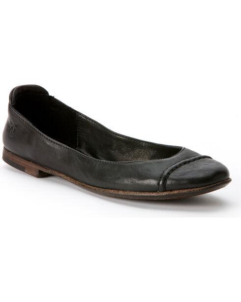 Frye Women's Phillip Cap Toe Ballet Flats, Black, hi-res