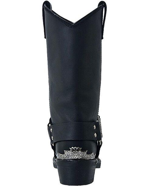 Dingo Men's Chopper Harness Boots, Black, hi-res
