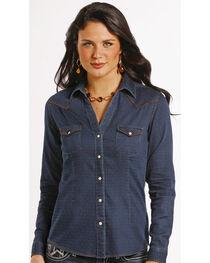 Rough Stock by Panhandle Slim Newbridge Vintage Indigo Western Shirt , , hi-res
