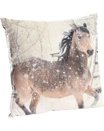 BB Ranch Horse Print Decorative Velvet Pillow, , hi-res