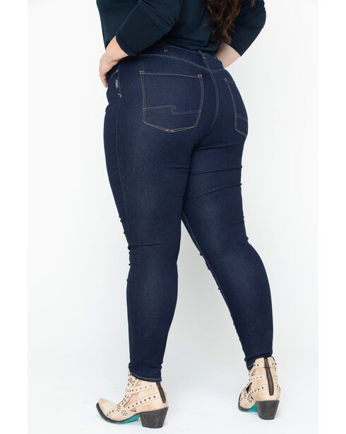 Silver Women's Dark Indigo Robson Jeggings - Plus Size, Indigo, hi-res
