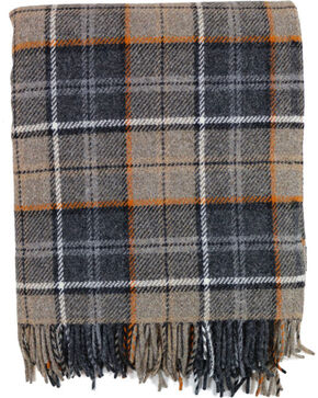 Pendleton Eco-Wise Wool Fringed Throw Blanket, Grey, hi-res