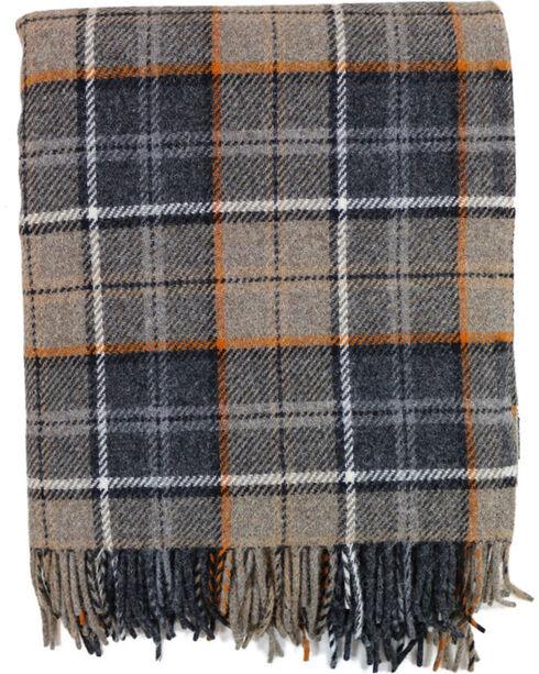 Pendleton Eco-Wise Wool Fringed Throw Blanket, Grey, hi-res