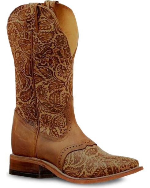 Boulet Women's Brown Daisy Sandy Riding Boots - Square Toe , Brown, hi-res