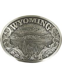 Nocona Men's Silver Wyoming Belt Buckle , , hi-res