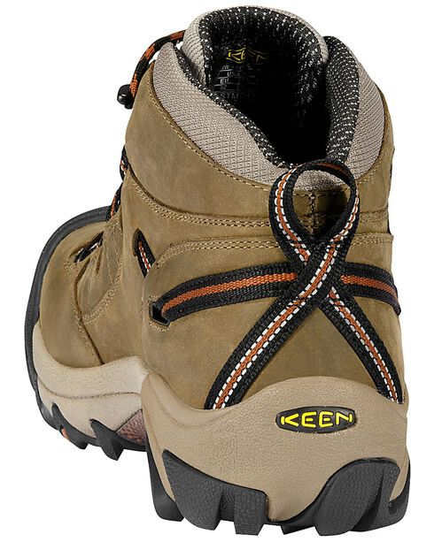 Keen Footwear Men's Detroit Lace-Up Waterproof Work Boots, Olive, hi-res