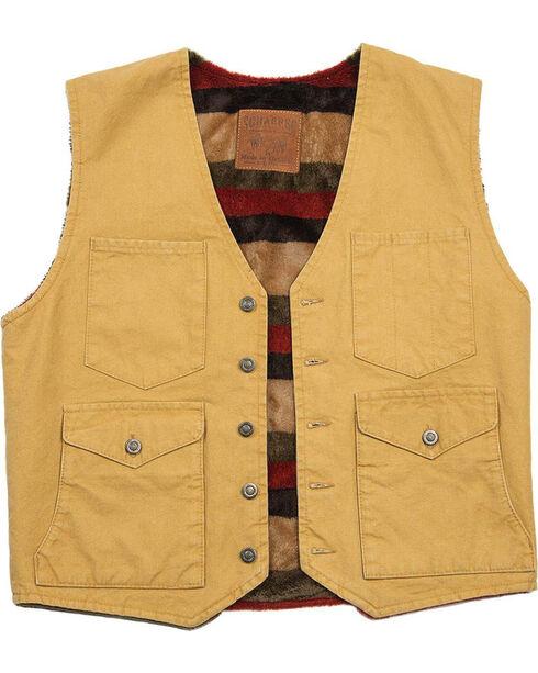 Schaefer Outfitter Men's Suntan Blanket Lined Mesquite Vest , Tan, hi-res