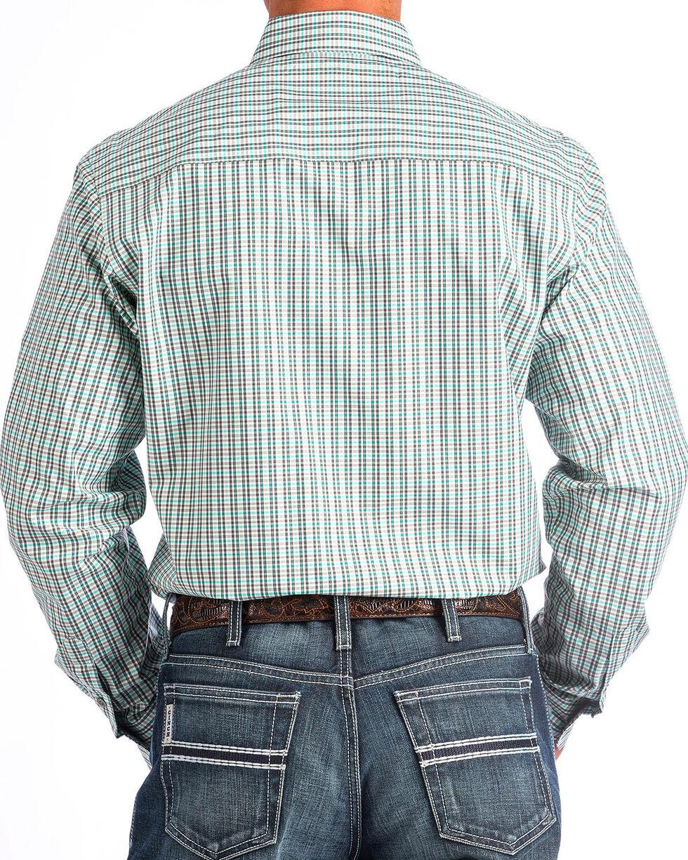 Cinch Men's Modern Fit Multi Plaid Long Sleeve Button Down Shirt , Purple, hi-res
