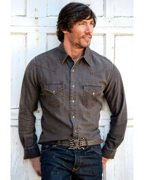 Ryan Michael Men's Distressed Waffle Shirt Buffalo, , hi-res