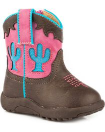 Roper Infant Girls' Cowbaby Cactus Pre-Walker Cowgirl Boots , , hi-res