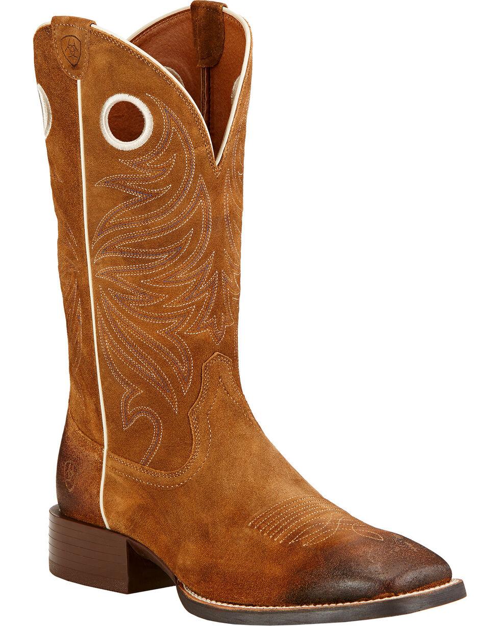 Ariat Men's Sport Rider Western Boots, Mocha, hi-res