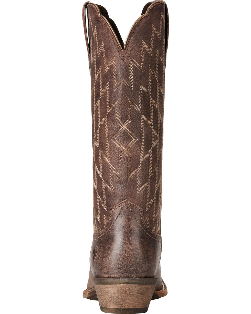 Ariat Women's Southwestern Heritage Western Boots, Chocolate, hi-res