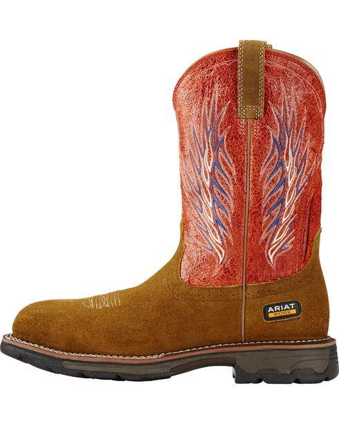Ariat Fire Workhog Mesteno II Western Work Boots, Brown, hi-res