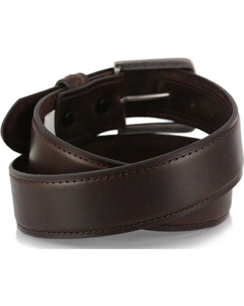 American Worker® Leather Belt, Brown, hi-res