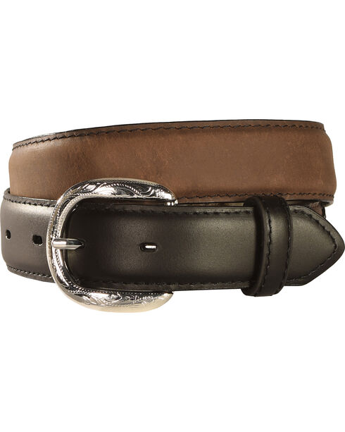 Kids' Lace & Concho Leather Belt - 18-28, Brown, hi-res