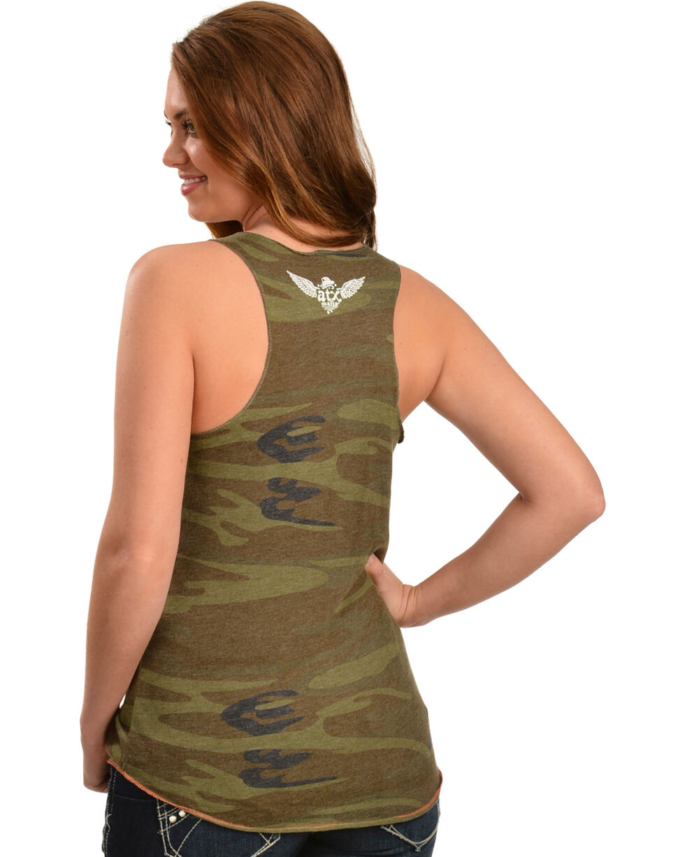 "ATX Mafia Women's Camo ""Blessed Beyond Measure"" Tank, Camouflage, hi-res"