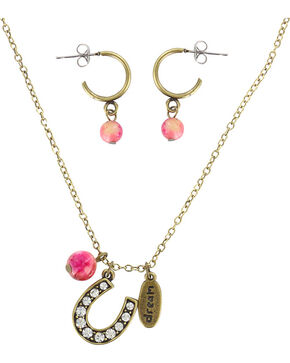 Shyanne® Women's Eat Sleep Ride Repeat Jewelry, Gold, hi-res