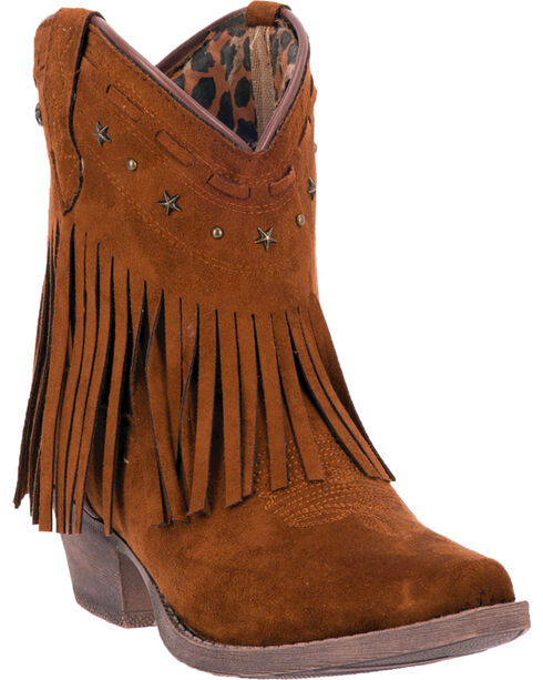 Dingo Women's Cassidy Fashion Western Booties, Rust, hi-res