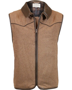 Cody James® Men's Rifleman Zip Front Vest, Oatmeal, hi-res