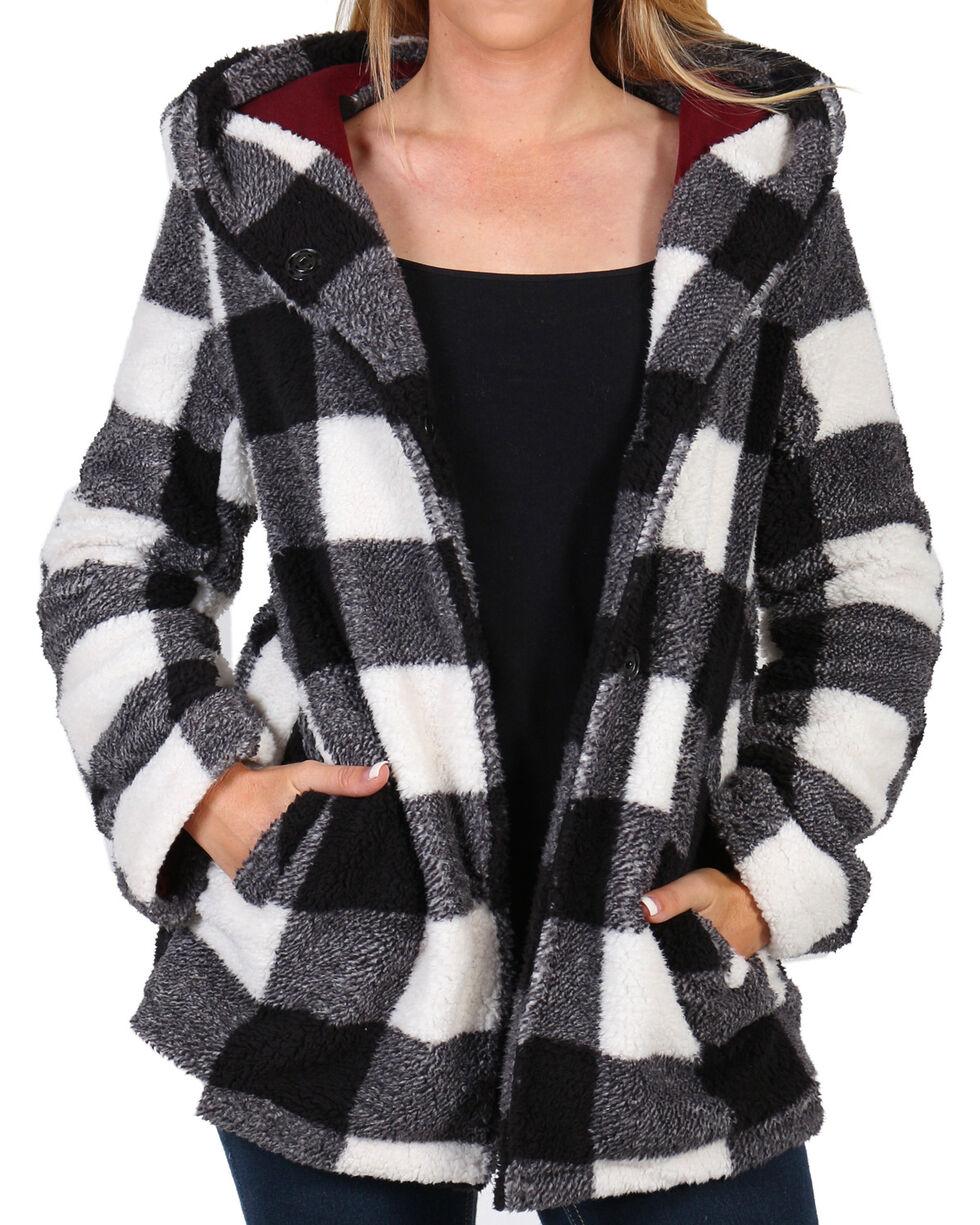 Shyanne Women's Snap Front Lines Fleece Buffalo Hoodie , , hi-res