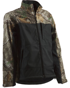Berne Lodge Camo Softshell Jacket - Tall Sizes, Camouflage, hi-res