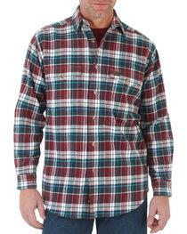 Wrangler Men's Plaid Button Down Long Sleeve Shirt, , hi-res