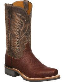 Lucchese Men's Cooper Cognac Bull Shoulder Western Boots - Square Toe, , hi-res