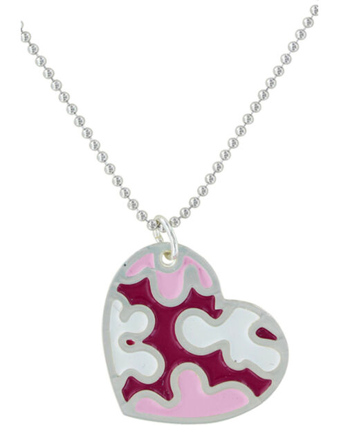 Montana Silversmiths Camouflaged In Love Necklace , Silver, hi-res