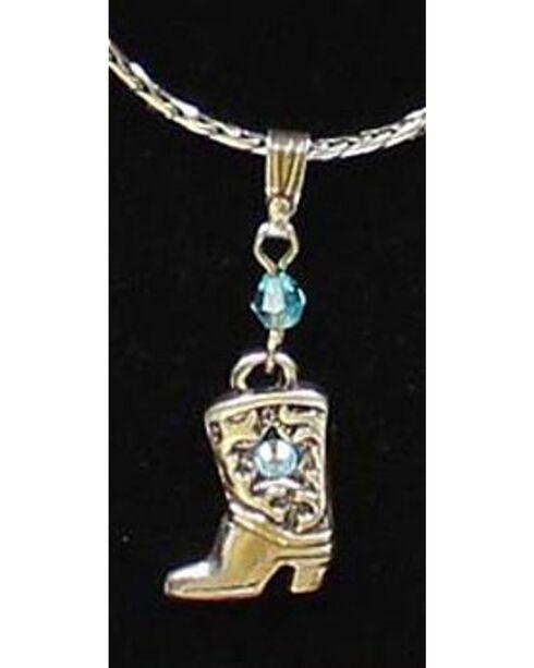 Lightning Ridge Cowgirl Boot Charm Necklace Set, Multi, hi-res