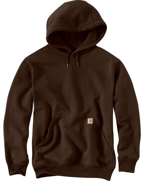 Carhartt Rain Defender Paxton Heavyweight Hooded Sweatshirt - Big & Tall, Dark Brown, hi-res