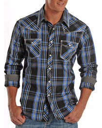 Rock & Roll Cowboy Men's Bold Plaid Long Sleeve Shirt, , hi-res