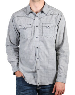Cody James® Men's Dark Shadow Long Sleeve Shirt, Grey, hi-res