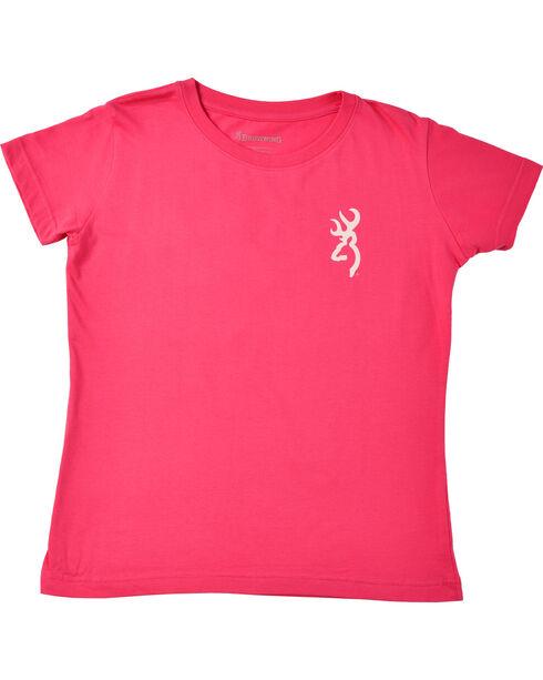 Browning Women's Fuchsia Mo Country Buckmark T-Shirt , Fuchsia, hi-res