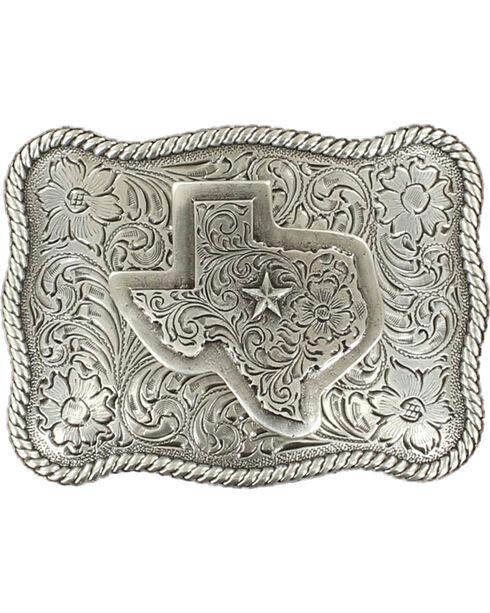 M&F Western Texas Belt Buckle, Silver, hi-res