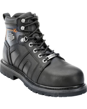 Harley-Davidson Men's Chad ST Lace-Up Motorcycle Boots, Black, hi-res