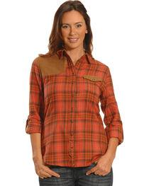 Tasha Polizzi Women's Red Clay Plaid Shooting Shirt , , hi-res