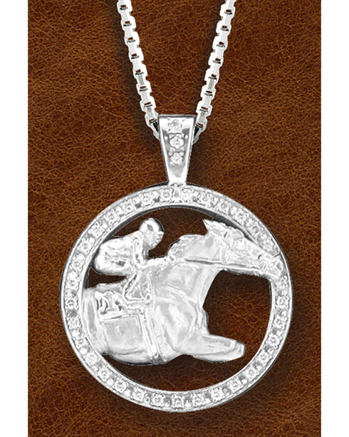 Kelly Herd Women's Sterling Silver Race Horse Necklace, Silver, hi-res