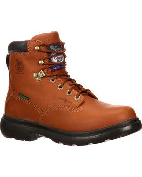 "Georgia Men's 6"" Waterproof Flexpoint Lace-Up Work Boots, Briar, hi-res"