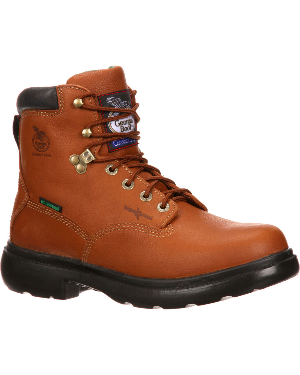 "Georgia Men's 6"" Waterproof Flexpoint Lace-Up Work Boots 