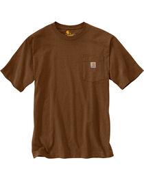 Carhartt Men's Workwear Pocket T-Shirt - Big and Tall, Brown, hi-res