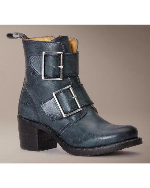 Frye Women's Sabrina Double Buckle Short Boots, Black, hi-res