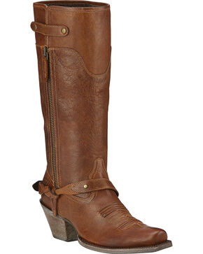 Ariat Women's Wild Flower Western Fashion Boots, Wood, hi-res