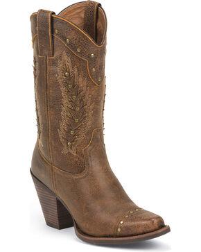 Justin Women's Desert Western Boots, Rust, hi-res