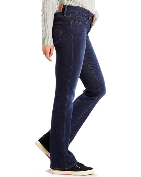 Levi's Women's Medium Fade Boot Cut Jeans, Blue, hi-res