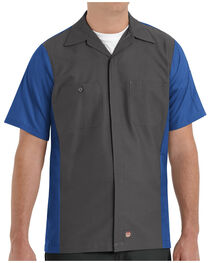 Red Kap Men's Crew Short Sleeve Shirt , , hi-res