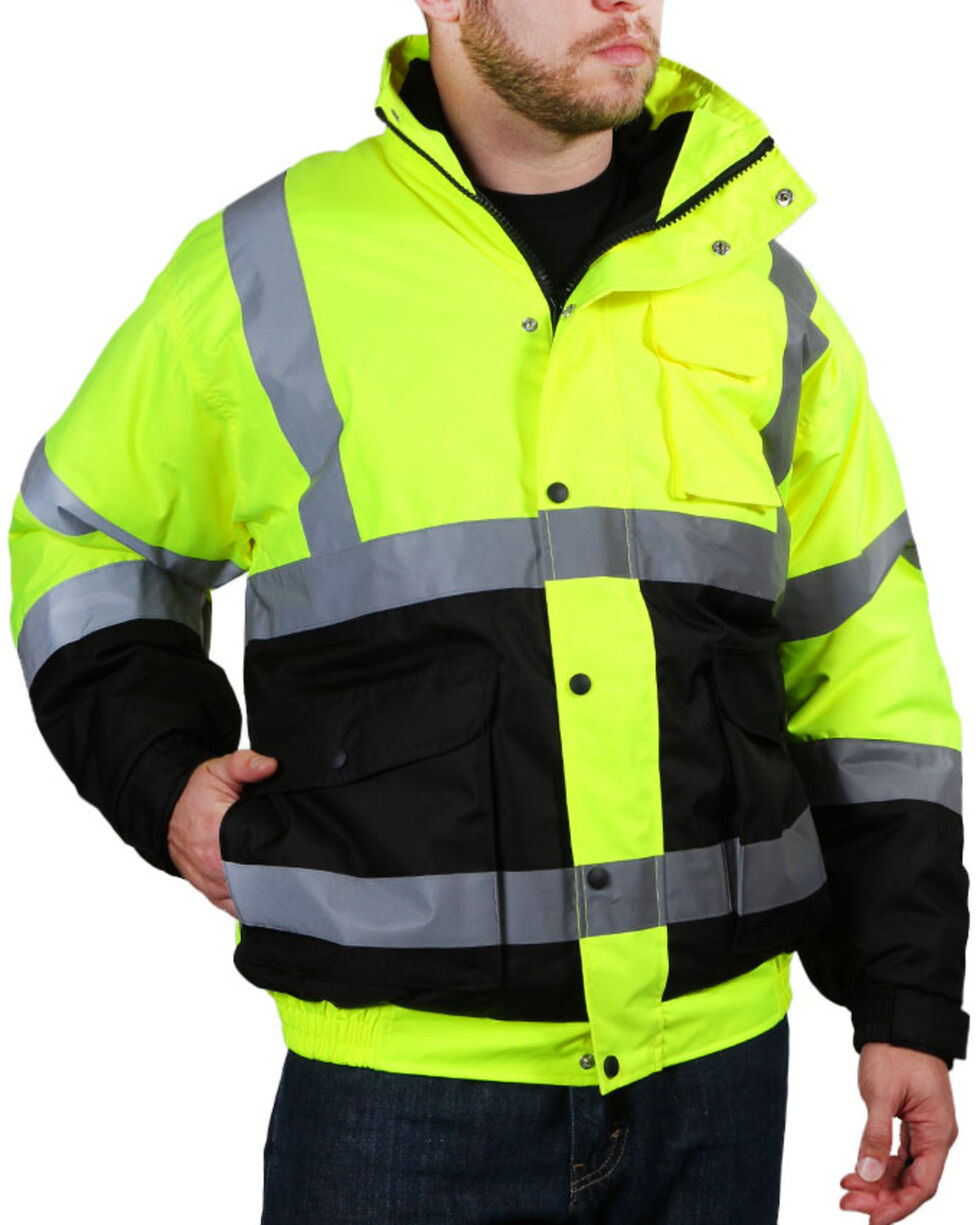 American Worker Men's Bomber Jacket - Big & Tall, Bright Yellow, hi-res