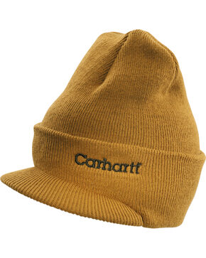 Carhartt Men's Winter Knit Hat, Brown, hi-res