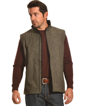 Cinch Men's Boot Barn Exclusive Softshell Vest, Olive, hi-res