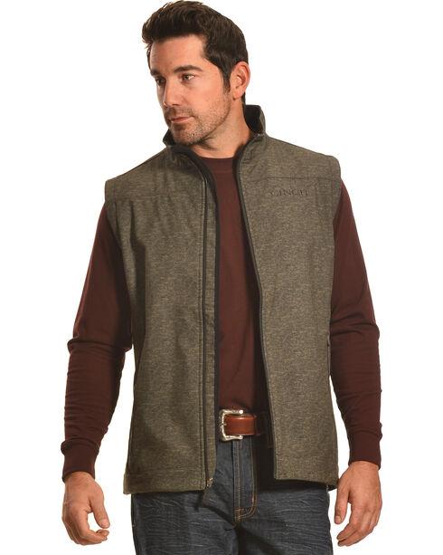 Cinch Men's Boot Barn Exclusive Softshell Vest, Olive, hi-res